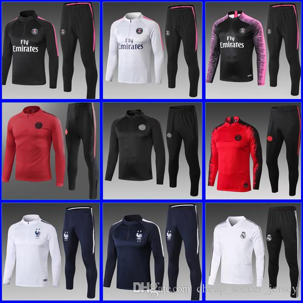 Psg Training Suit 2018 2019 Psg AJ Soccer Tracksuit Sets Paris Saint ... 0757d7600abd