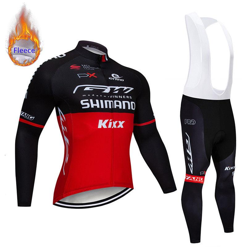Winter Cycling Clothing 2019 Pro Team Men S Super Warm Thermal Fleece Bicycle  Jersey 9D Gel Pad Bib Pants Kit Ropa Ciclismo Invierno Custom Cycling  Jerseys ... 7431886e1