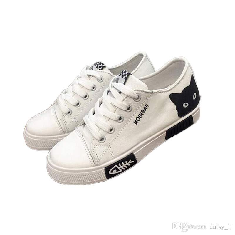 Brand Fashion Shoes Woman Cartoon Casual Shoe Ladies Flat Shoes