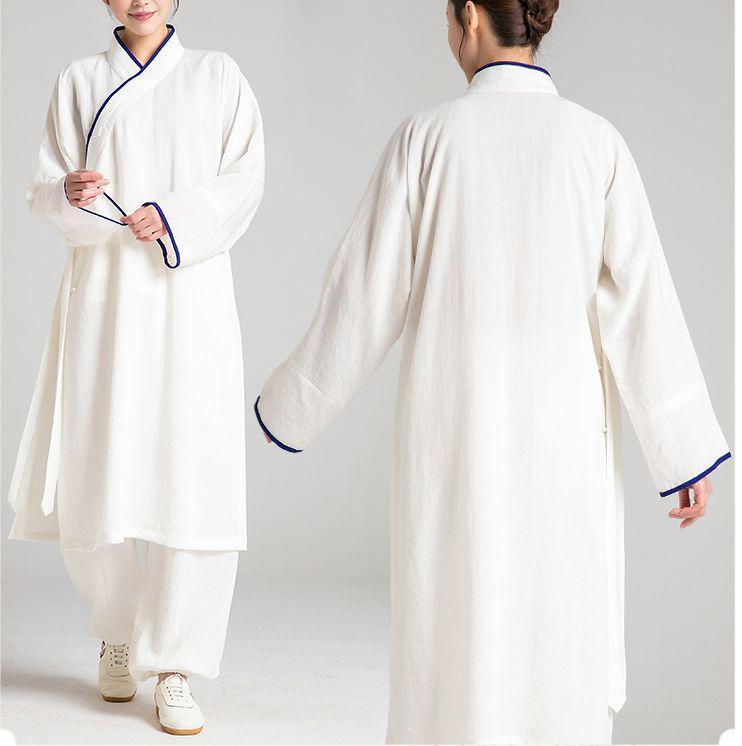 78ac6bdb4587 Acheter Unisexe Lin   Fax Wudang Tai Chi Costumes Robe Wushu Kungfu  Vêtements Uniformes Taoïstes Shaolin Moines Kung Fu Costume De  129.62 Du  Yiquanwater ...