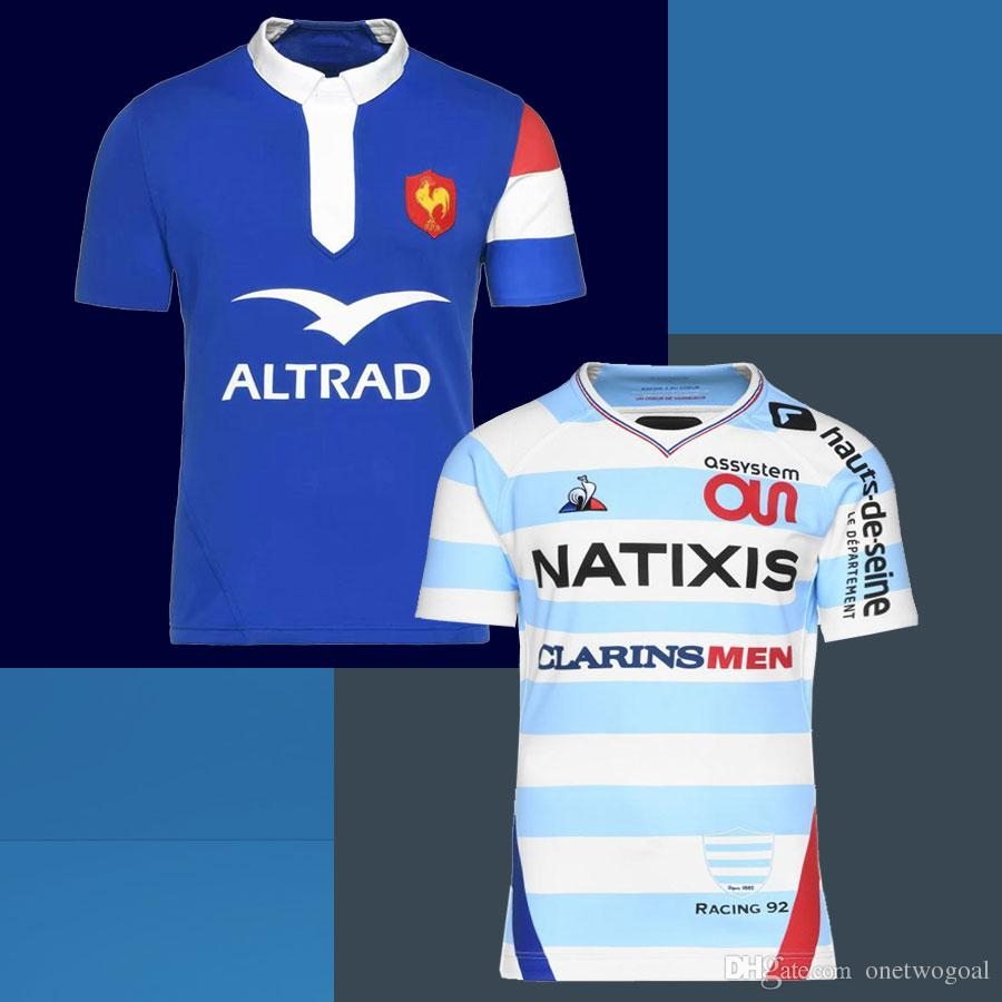 newest d57e6 8126b New style 2018 France Super Rugby Jerseys 2019 Home And Away World Cup  France Shirts Rugby Maillot de Foot French BOLN Rugby Tops