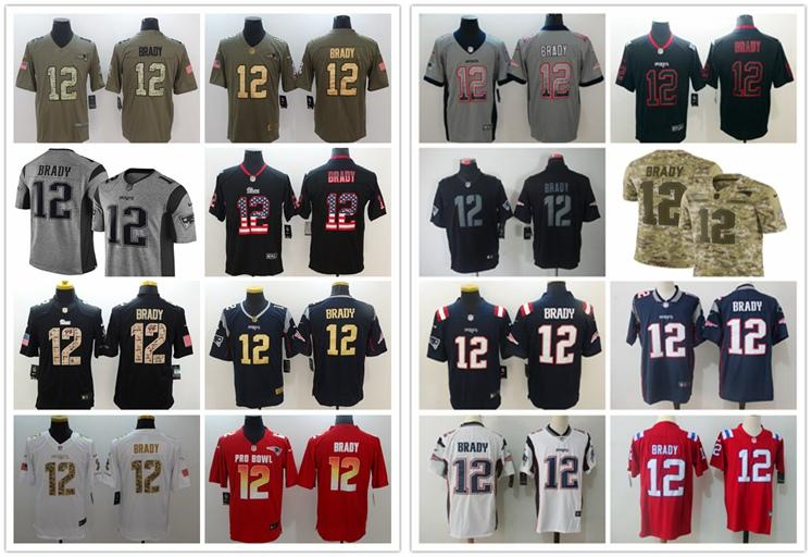 a8ba4cca7f2 2018 2019 New Mens 12 Tom Brady Olive Camo Jersey Patriots Football Jersey  100% Stitched Embroidery Patriots Tom Brady Color Rush Football Shirt From  ...