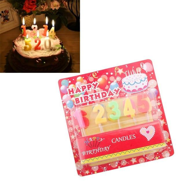 Lovely New Birthday Cake Age Number Candle Party Celebrate 73342 UK 2019 From Kingflower 2473