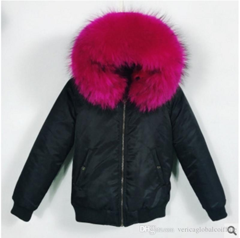 Meifng - (Baby style) Furs women's party to overcome fur thick waterproof baseball uniform flight jacket cotton clothes