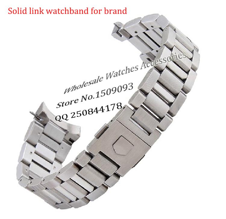 81d8385a3ef New Arrival Black Stainless Steel Watchband Bracelets Curved End Solid Link  22mm For Brand Steel Watch Men High Quality Mesh Watch Band Armitron Watch  Bands ...
