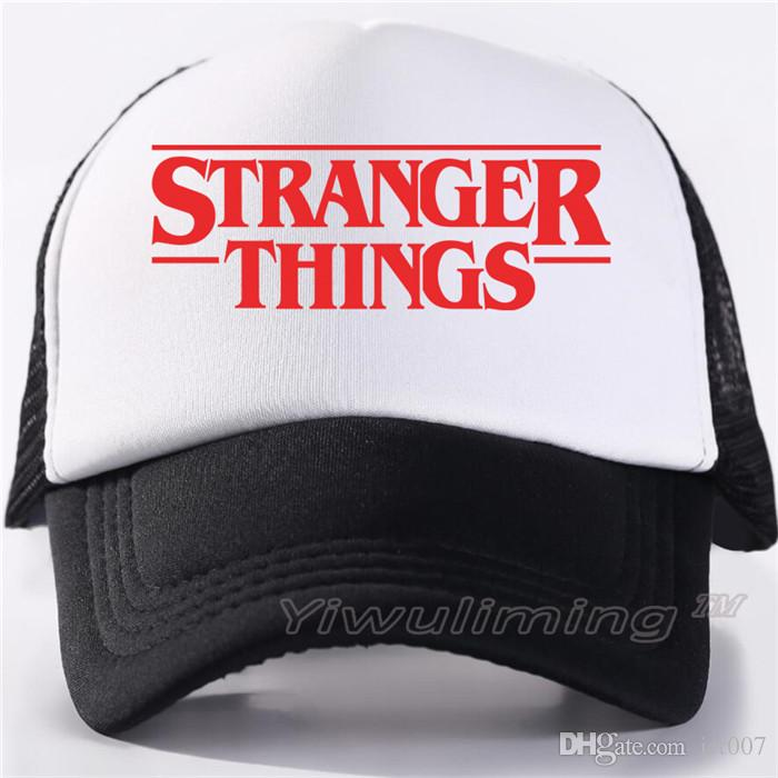 5213b2a89 Stranger Things Dustin Caps Hat Summer Cool Black Mesh Trucker Caps Men  Adjustable Summer Cool Net Mesh Hats For Summer Millinery Richardson Hats  From ...