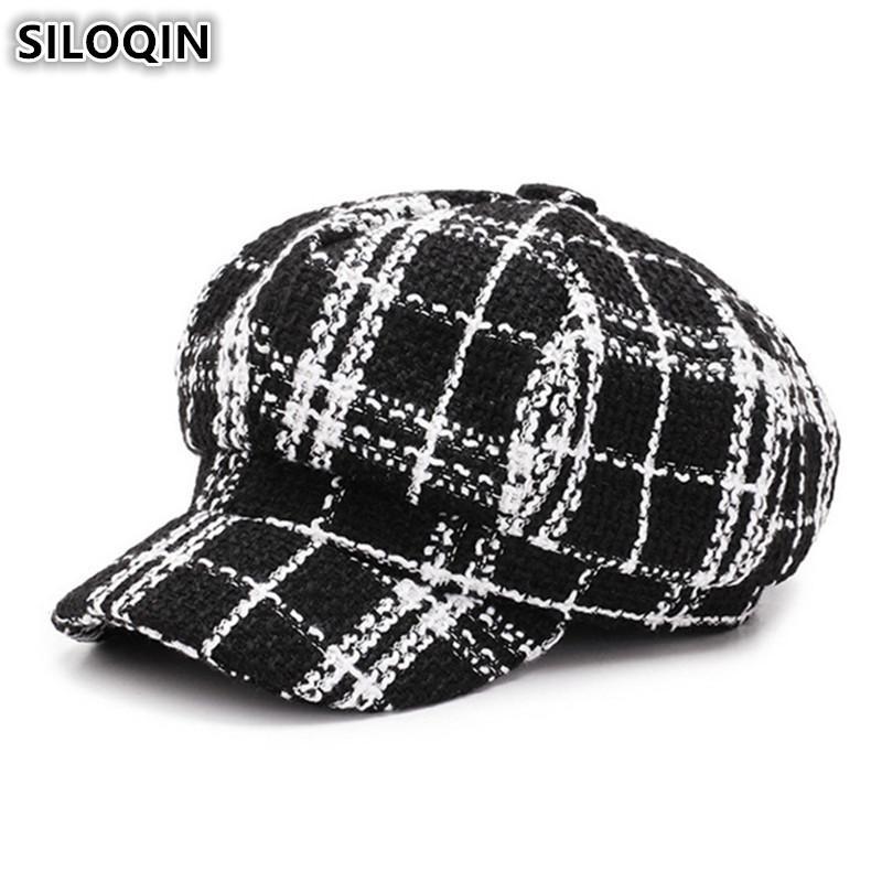 a922fe09eda SILOQIN Women s Hat British Trend Retro Newsboy Caps For Women ...