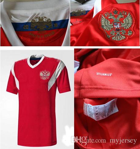best authentic 50c86 6beed New 2018 World Cup Russia Soccer Jerseys 1819 red home ARSHAVIN KERZHAKOV  PAVLYUCHEN DZAGOEV KOMBAROV 22 DZYUBA IONOV Russian Football Shirt