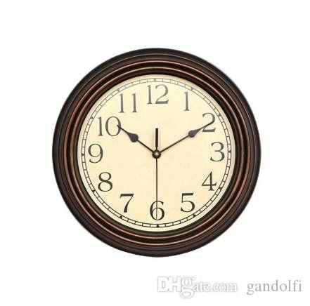 12 Zoll Runde Klassische Uhr Nicht Ticking Dekorative Bronze Wanduhr 3D  Wand Decor Moderne Wohnzimmer Dekoration