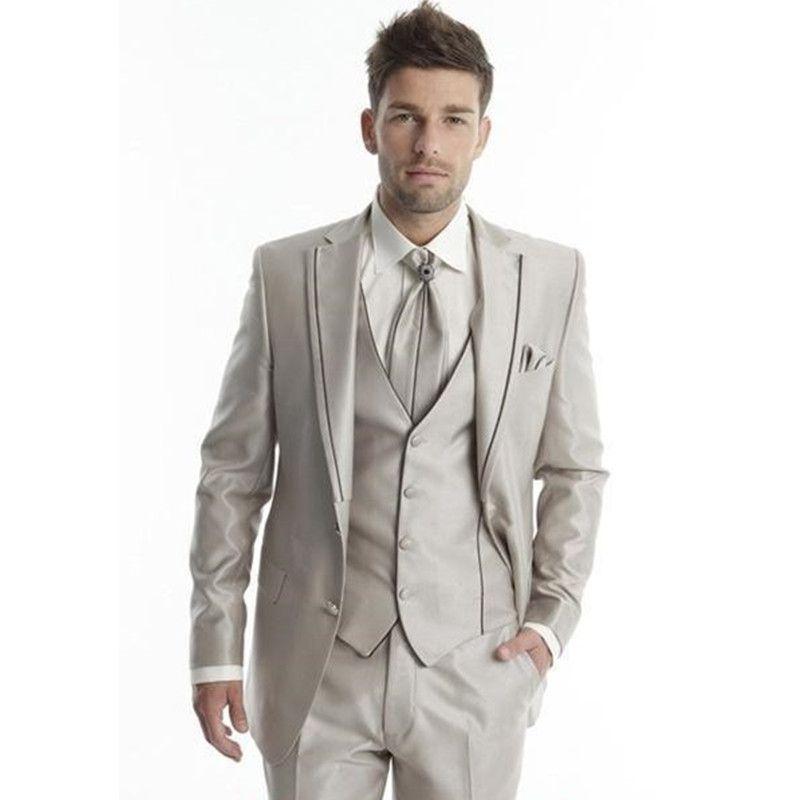 90377fd0caf Men s Wear High Quality Men Suits Groomsmen Custom Wedding Suit One ...