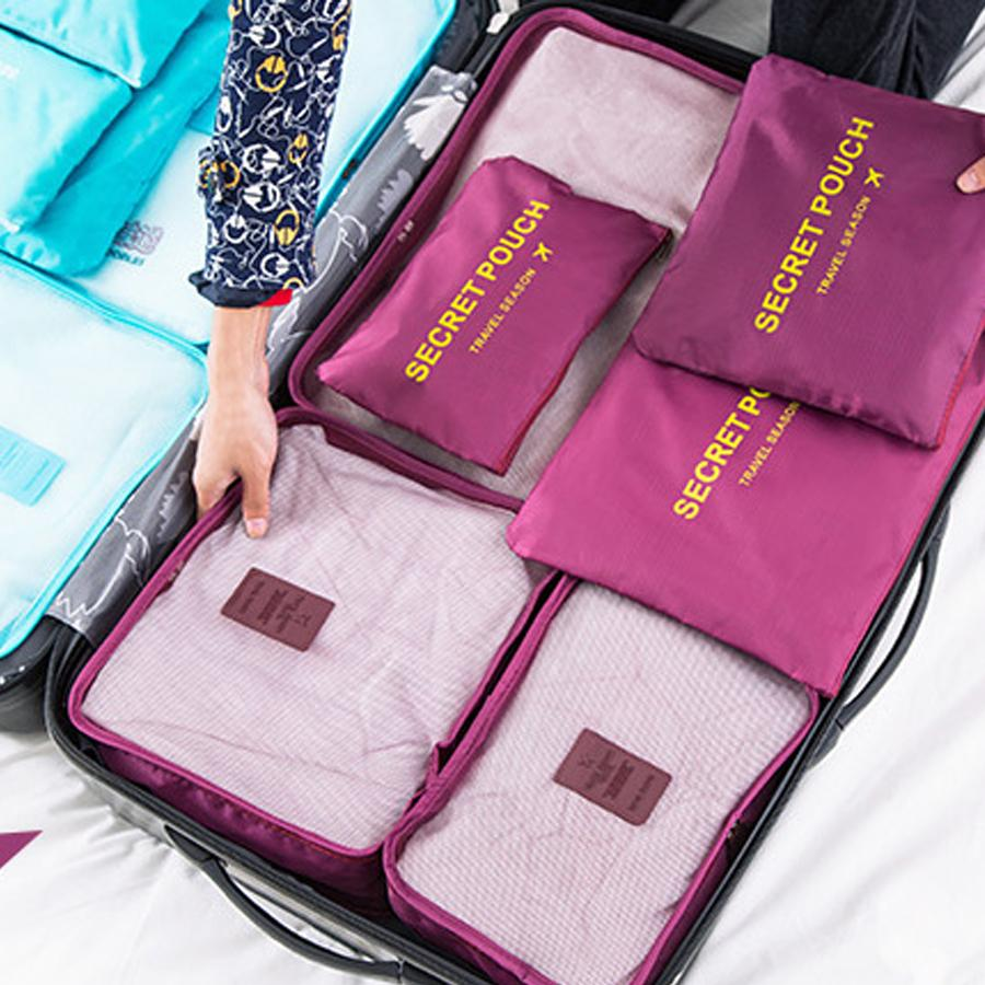 Fine Nylon Packing Cube Travel Bag System Durable 6 Pieces One Set Large Capacity Women Men Clothing Sorting Organize Bag Pdpeps Interior Chair Design Pdpepsorg