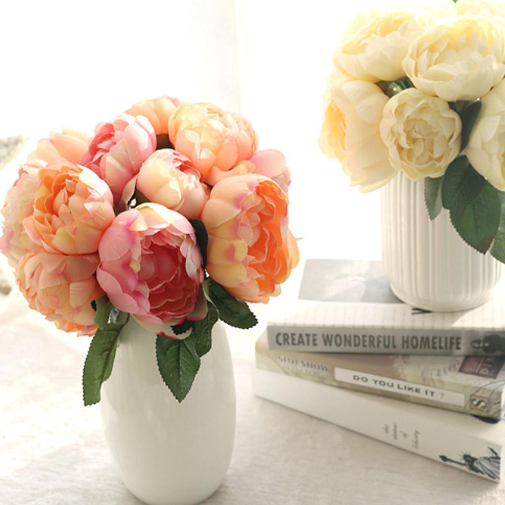 Wholesale Artificial Flowers 27cm Silk Rose Flowers For Gift Home