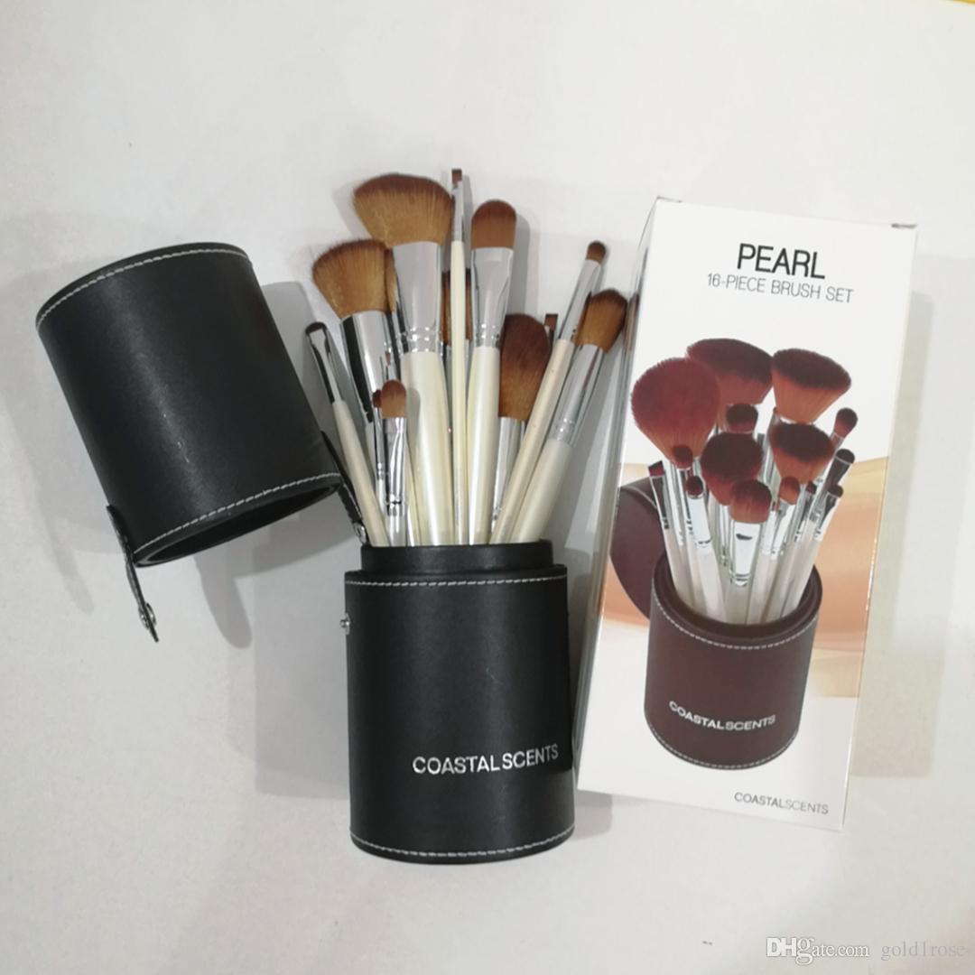 d8f20f481 Compre ¡Alta Calidad! Pelo De Cabra Madera Caliente Profesional  Coastalscents Pinceles De Maquillaje 16 Piezas Set De Cepillo Kit + Barril  Negro Dhl Envío ...