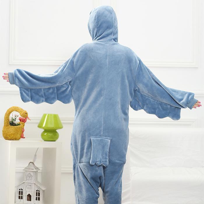 Flannel Winter Warm Pyjamas Cartoon Couple Animal Dinosaur Unicorn Owl Coral Velvet Pajamas Siamese Pajamas Men Women Sleepwear