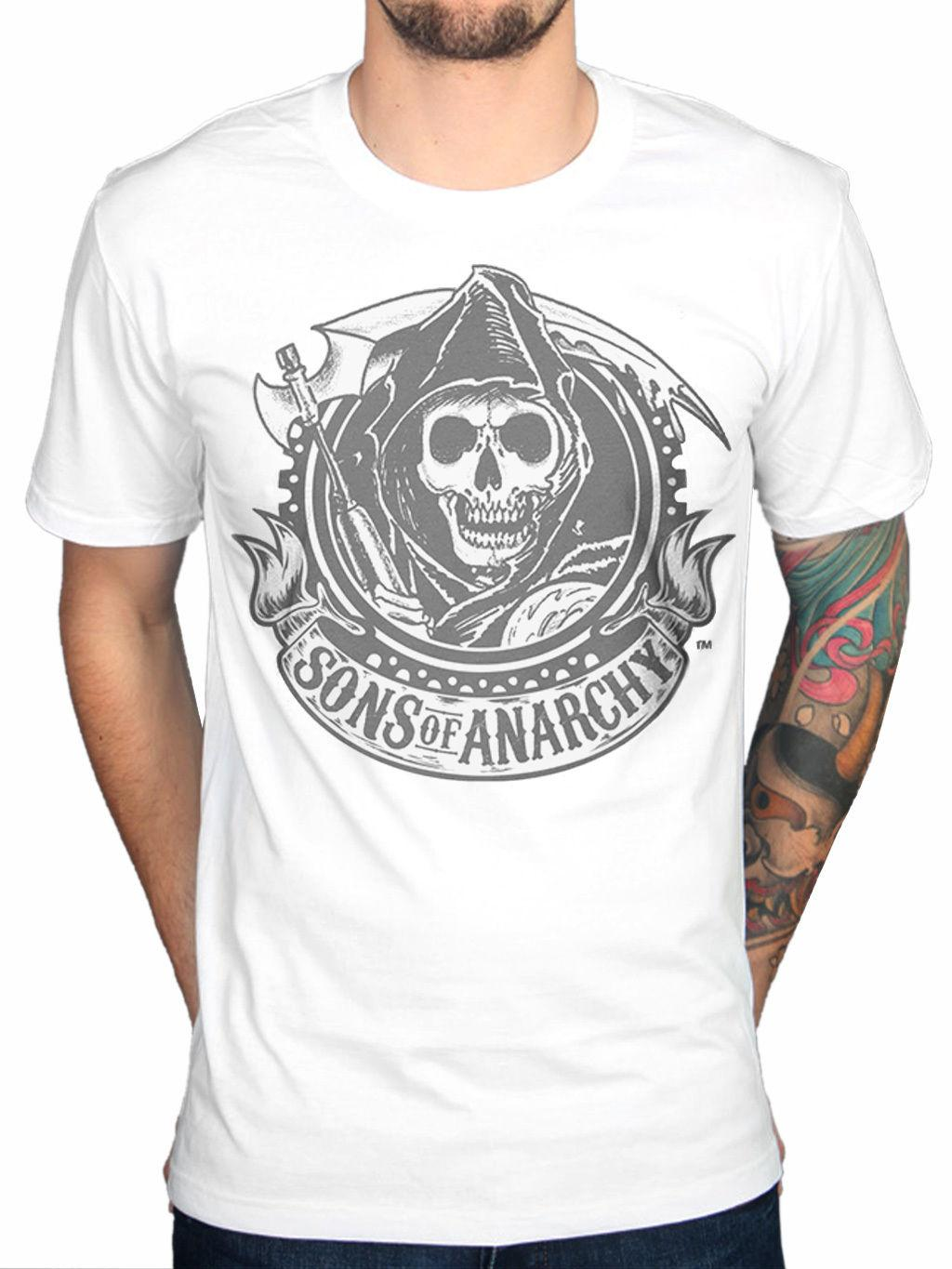 Sons Of Anarchy Classic Reaper Logo Tee Shirt Black