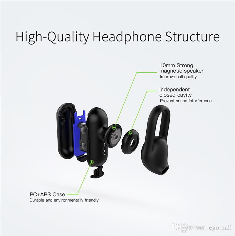 QCY Q12 fone de ouvido intra-auricular mini fone de ouvido handsfree fone de ouvido sem fio bluetooth V4.1 com microfone hd chamadas telefone música jogo