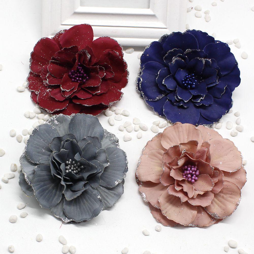 2018 New Artificial Flowers Silk Flower Headdress Large Peony Flower
