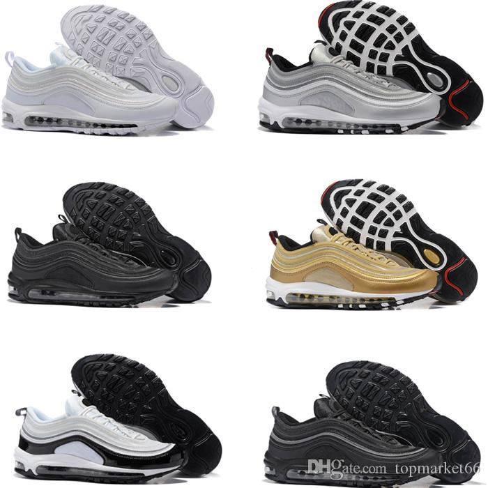d43f58eceb25 Running Shoes Silver Bullet Triple White Balck Metallic Gold Mens Women  Casual Sport Trainers Sneakers Eur 36 46 Black Running Shoes Running  Sneakers From ...
