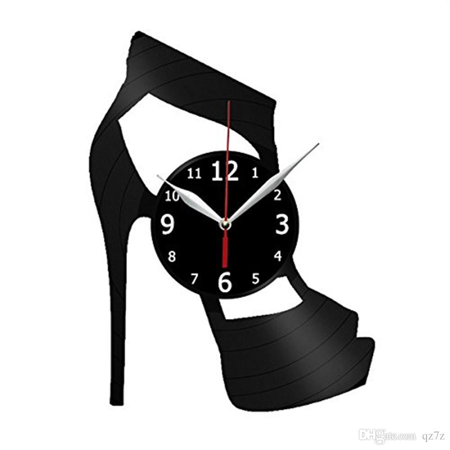 Superbe High Heels Vinyl Record Wall Clock Modern Home Decor Light Wall Art Kitchen  Bedroom Living Room Decorations Christmas Personalized Gifts Big Clocks For  Wall ...