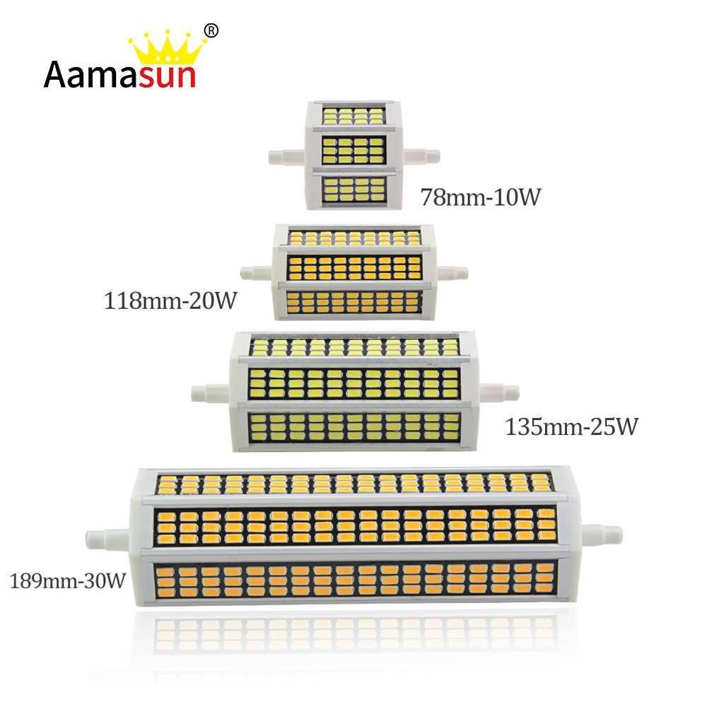 Großhandel 10w 20w 25w 30w R7s Led Lampe 78mm 118mm 135mm 189mm