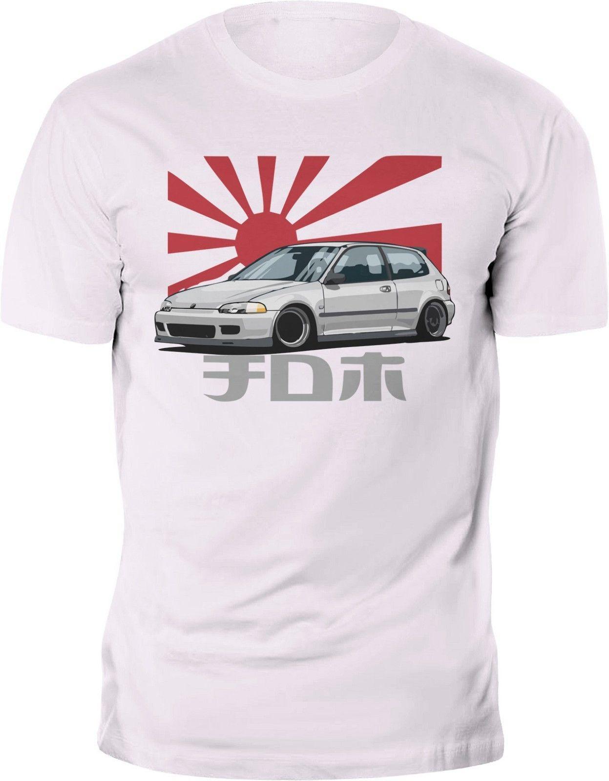Honda Civic Mk5 Type R Jdm Japanese Flag T Shirt Custom Print Biker