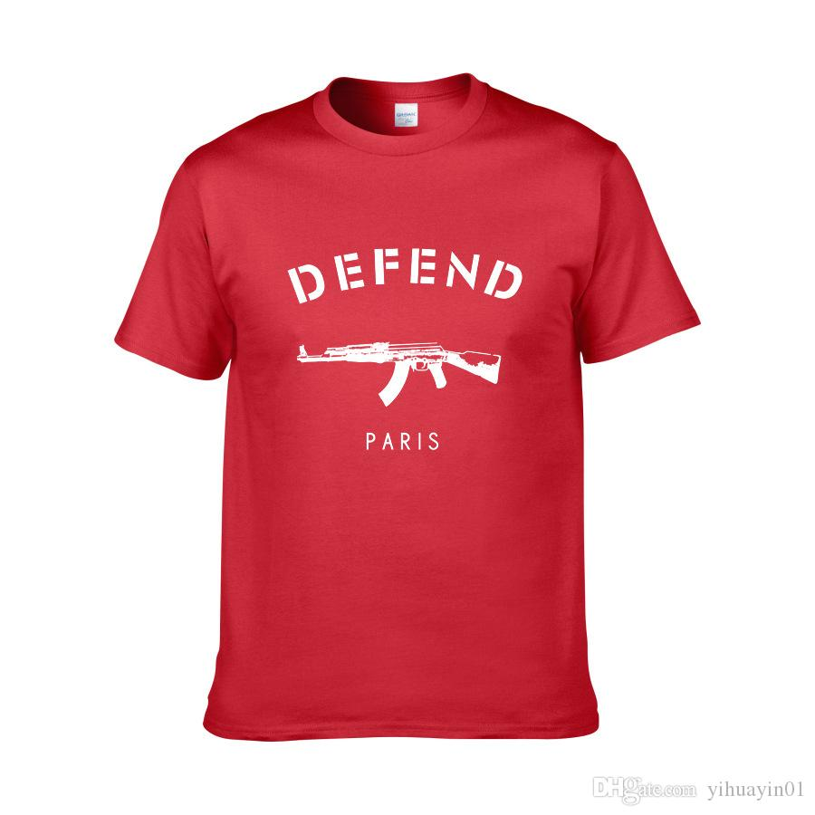 Sommer Hot Style T-Shirt mit kurzen Ärmeln original SuChao Marke DEFEND Paris Herren Kurzarm-T-Shirt