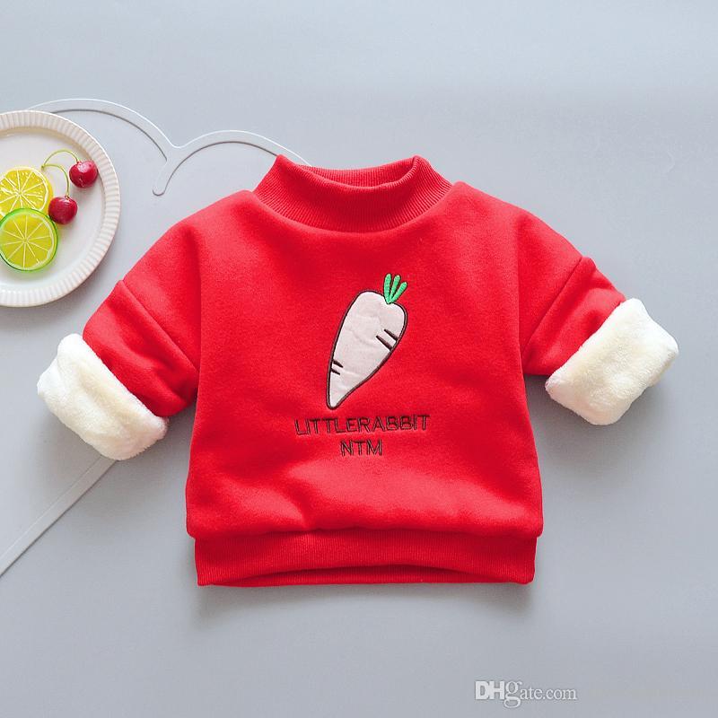 ee0c88bb2 Girls Sweatshirts Winter Warm Kids Long Sleeve Thicken Clothing Cute ...
