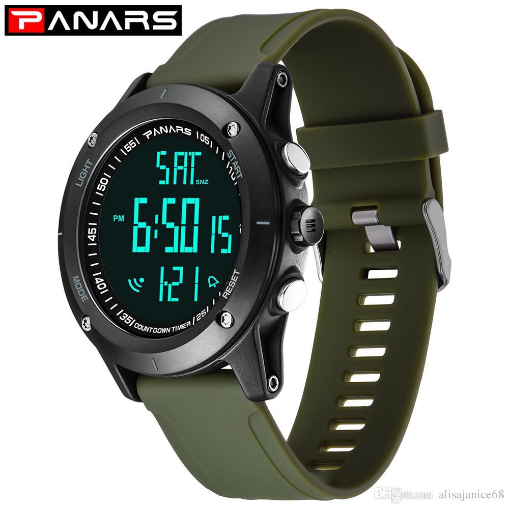 3df8085e01a4 Compre Relojes Deportivos Reloj Despertador Cronógrafo Para Correr Al Aire  Libre Reloj Digital Para Hombres Reloj Sumergible LED Horas P8014 A  13.2  Del ...