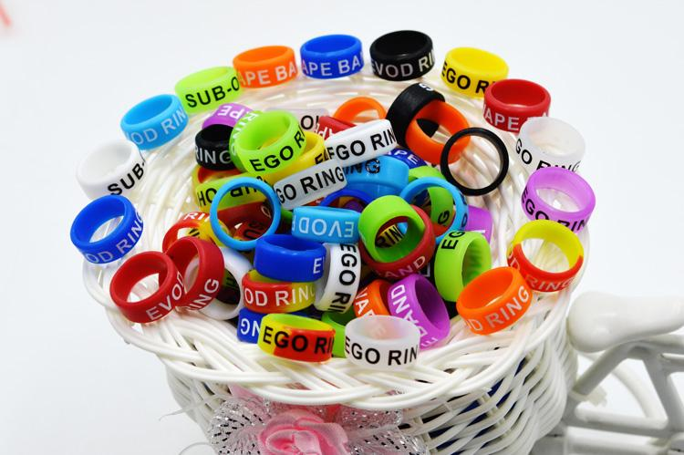 Non-Slip Silicon Vape Band Rings Silicone Protection Decorative Beauty Ring 13mm For Vision Spinner II EVOD EGO T EGOT Twist Series Battery
