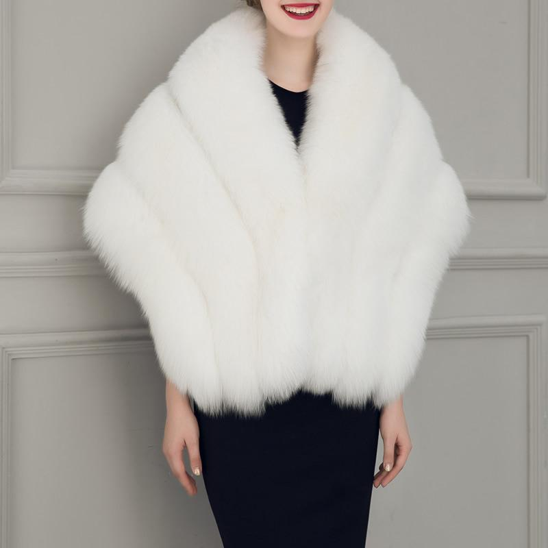 2017 Spring Autumn Winter Fake Rabbit Fur Cape Knitted Fur Poncho with Raccoon Fur Trimming Women's Sweatercoat