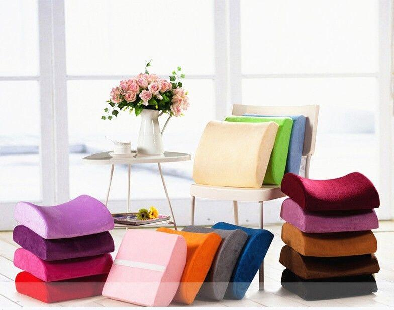 Memory Foam Lumbar Back Support Cushion Pillow For Office Home Car