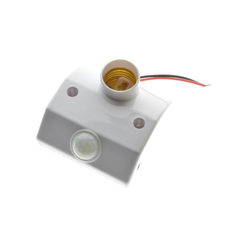 12c6d26a321 2019 Lamp Base E27 Standard AC 86 265V Lamp Bulb Base Infrared IR Sensor  Automatic Wall Light Holder Socket PIR Motion Detector From Yuancao