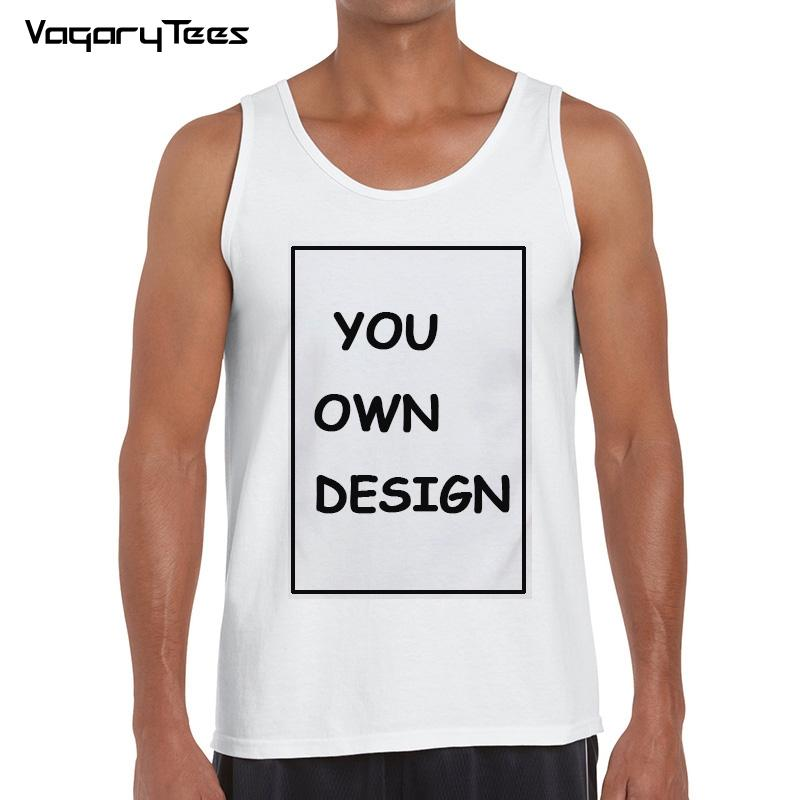 1d9a1a11a80d5 Custom Print Tank top Men O-neck Best Ployester Quality Plus Size Your  Logo/Design Print Vest Custom Tee
