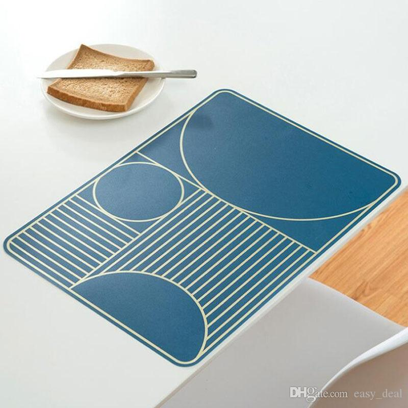 Heat-insulated Tableware Plastic Placemat Kitchen Dinning Bowl Dish Waterproof Pad Home Restaurant Table Mat ZA6231