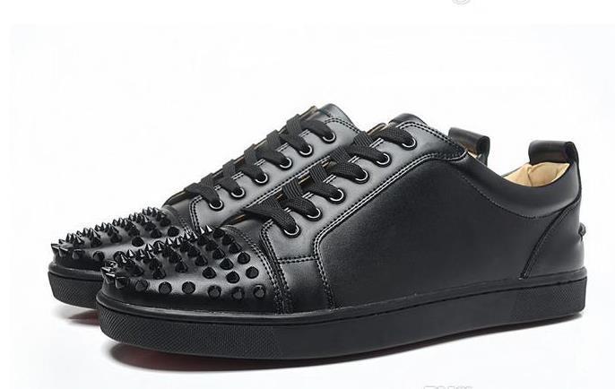 Luxury Party Wedding Scarpe da donna da donna in camoscio nero con punte basse nere scarpe da ginnastica basse, scarpe causali di design 36-46 drop shipping