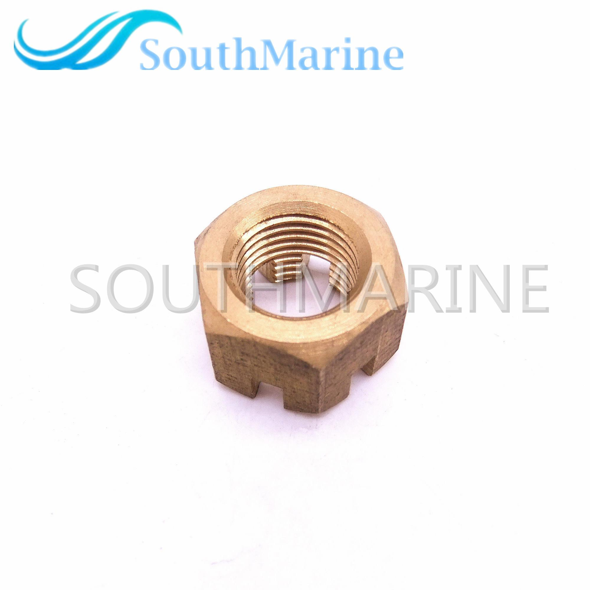 Marine Parts 90171-16011 Nut, Propeller Castle for Yamaha 40HP 50HP 55HP  60HP 70HP 90HP Outboard Engine