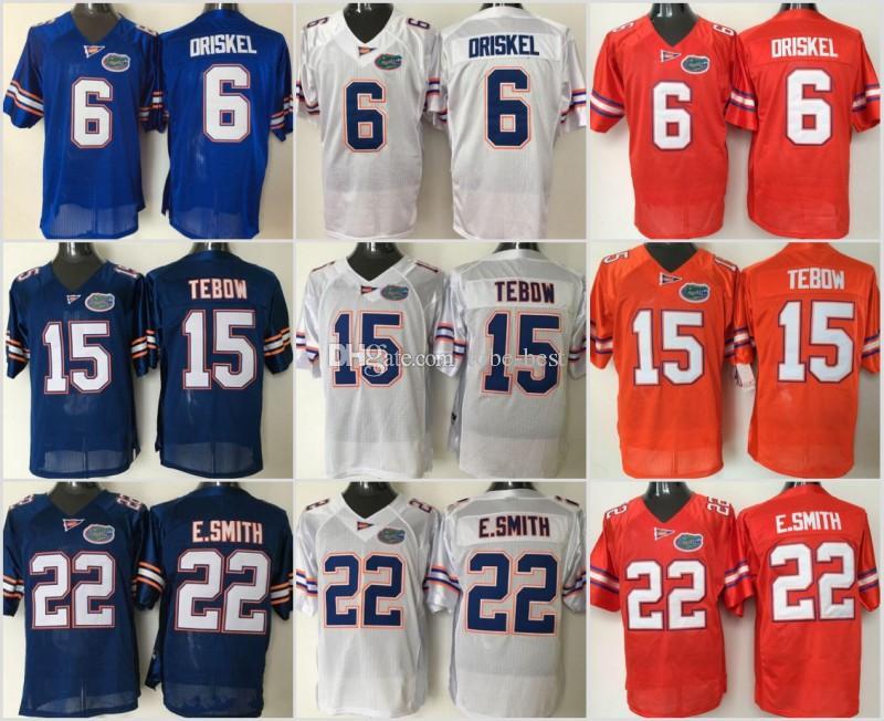 best service bc75d 00488 NCAA Florida Gators College 15 Tim Tebow Jersey Men 22 Emmitt Smith 6 Jeff  Driskel Football Jerseys University Embroidery Blue Orange White
