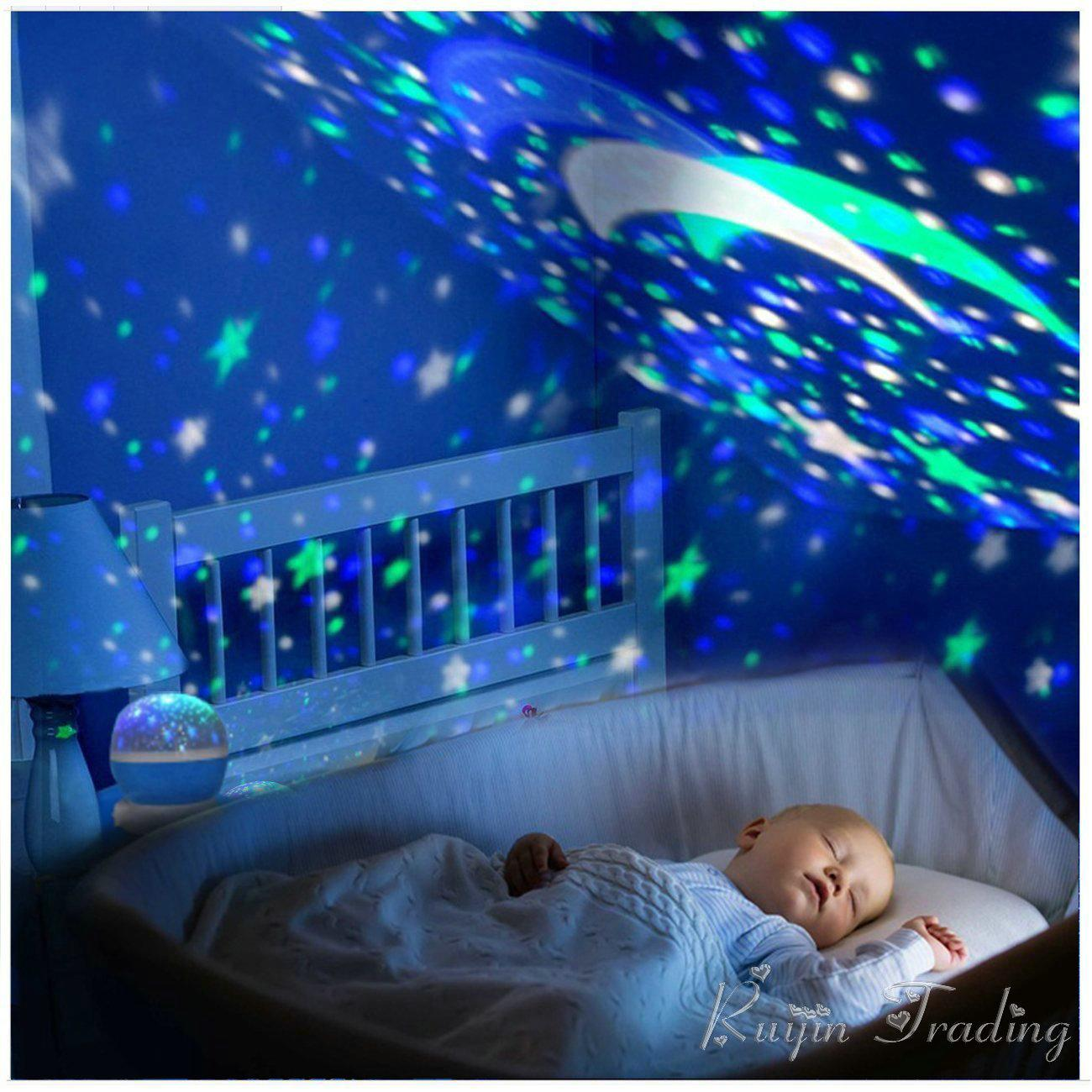 2018 Led Rotating Night Light Projector Spin Starry Moon Sky Star Master Children Kids Baby Nursery Sleep Romantic Usb Lamp Abajur From Stylenew