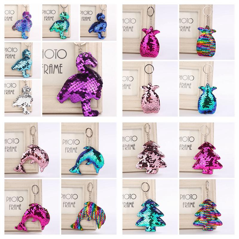 Sequin Mermaid Flamingo Keychain Christmas Trees Keyring Pineapple Cell  Phone Bag Pendant Dolphin Key Ring Home Decor Kids Toys AAA1057 Make Your  Own ... 15ee8466252b