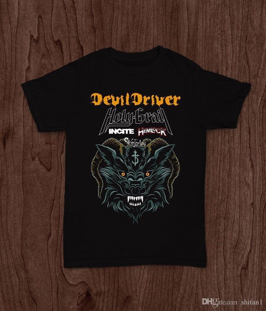 1831c8a26dc DEVILDRIVER TOUR HEAVY METAL BAND HOLY GRAIL INCITE HEMLOCK T SHIRT S M L  XL 2XL 3XL Funny T Shirts Mens Shirts From Shitan1, $11.78| DHgate.Com