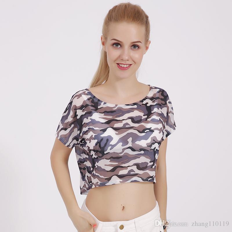 640bb0f7 Women Summer T Shirt Chiffon Short Loose Tee Shirts O Neck Female Sexy  Casual Crop Top Batwing Sleeve T Shirt BB#9 Offensive T Shirt T Shirt  Slogan From ...