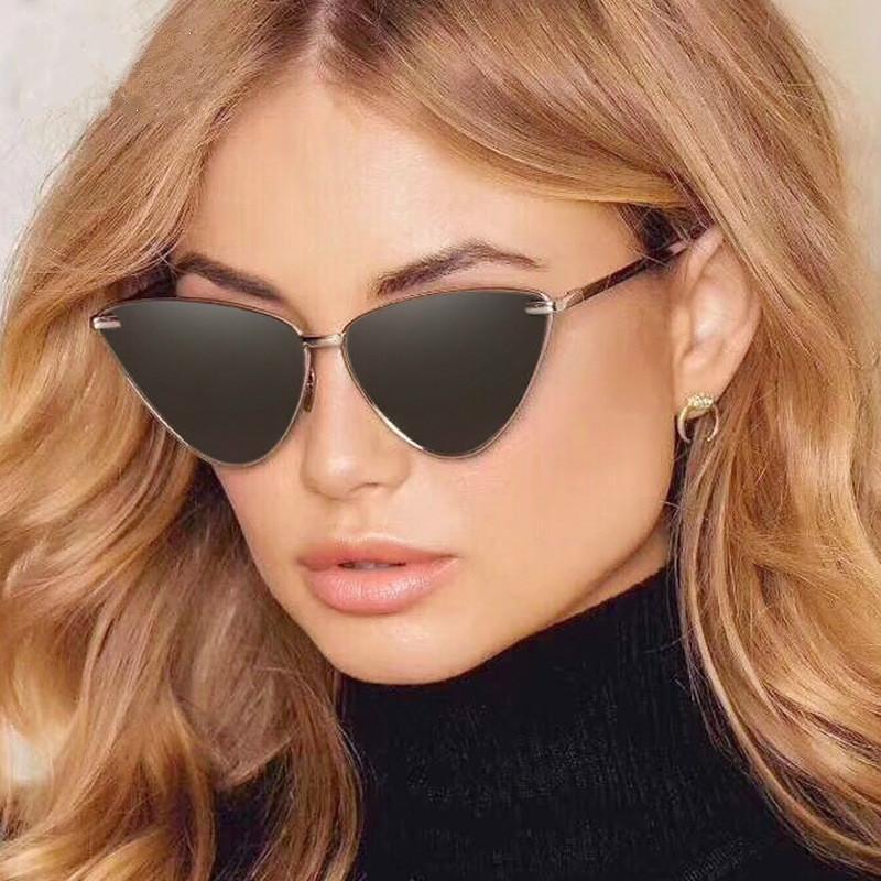 3a858d8ca8e Acheter HBK 2019 Femmes Date Cat Eye Lunettes De Soleil De Luxe Marque  Designer De Mode Lunettes De Soleil Homme Femelle Vintage Shades Lunettes  UV400 De ...