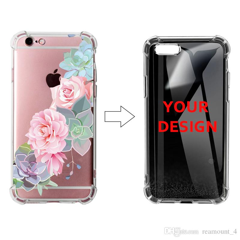 buy popular 5a113 5a409 Personalized Custom Clear Silicone Case for iPhone X XS XS Plus Soft TPU  Air Bag Phone Case Custom Photo
