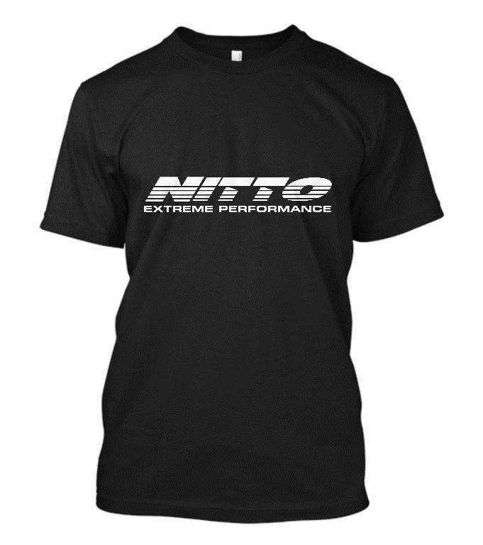 New Nitto Tire Tires Logo Short Sleeve Mens Black T Shirt Size S To
