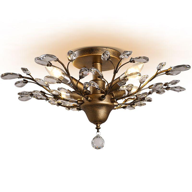 Rétro Plafonnier Vintage Cristal Luminaire American Plafonniers Chambre Led Salon Maison Iwhd Lustre Luminaires lKJF1c