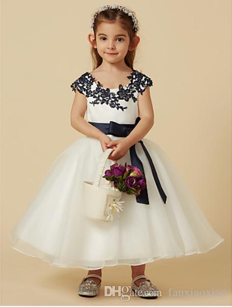 2f7b4b611 A Line Knee Length Flower Girl Dress Lace Flower Girls Toddler Baby Kids  Princess Wedding Party Formal Dresses Adorable Flower Girl Dresses  Bridesmaid ...