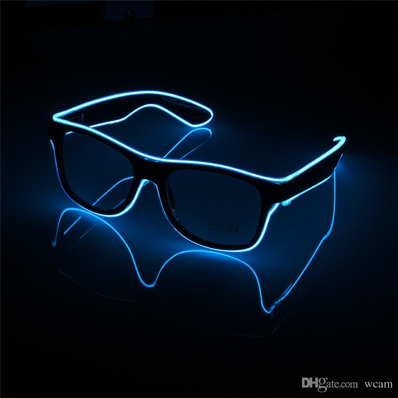 Dazzle EL Wire Glass Beautiful Shine LED Toys Nightclub Show Flash Glasses for Party/Halloween/ Birthdays/Festivals EL Luminous Glasses