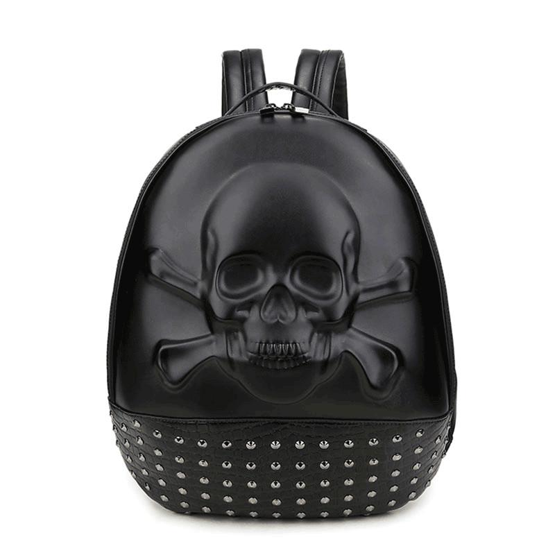 3d Skull Original Rivet Laptop Backpack Men Personality School Bags