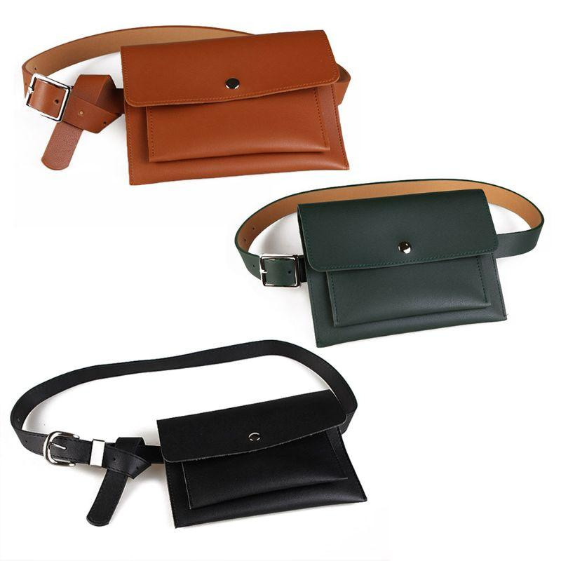 02cc3fc0d0c Hot Sell Fashion Leather Waist Fanny Pack Belt Bag Phone Pouch Travel Hip  Bum Bags Women Small Purse