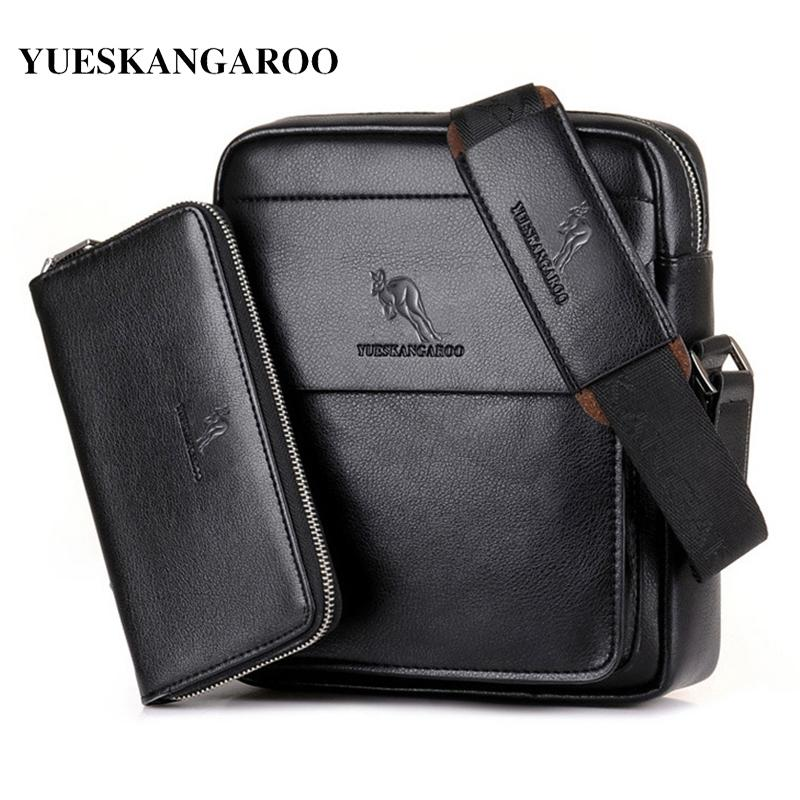 6b41065f89 YUES KANGAROO Luxury Brand Casual Men Bag Vertical Business Leather  Shoulder Bag Vintage Man Crossbody Messenger Bag With Wallet S914 Brahmin  Handbags ...